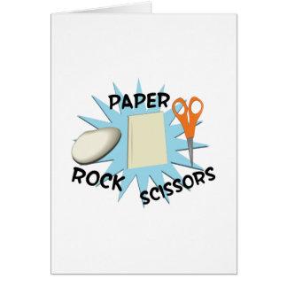 Tijeras de papel de la roca felicitaciones