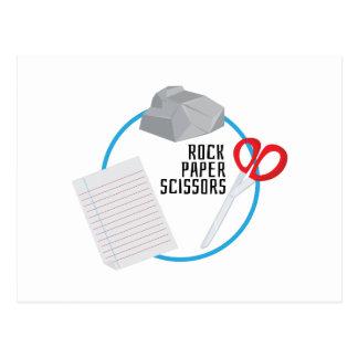 Tijeras de papel de la roca tarjeta postal