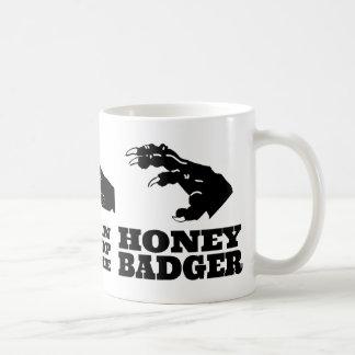 Tijeras de papel de la roca -- ¡Tejón de miel! Taza De Café
