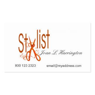 Tijeras del corte del pelo del salón del estilista tarjetas de visita