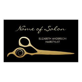 Tijeras elegantes del Hairstylist del salón del ne Tarjetas De Negocios