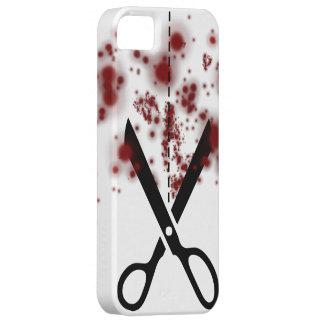Tijeras sangrientas iPhone 5 carcasa