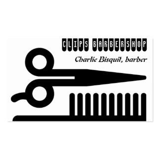 Tijeras y negocios del pelo del peine tarjetas de visita