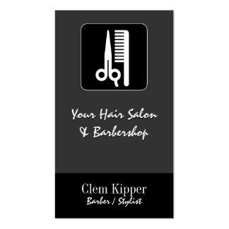 Tijeras y negocios del pelo del peine tarjeta personal