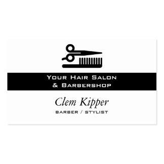 Tijeras y negocios del pelo del peine tarjetas de negocios