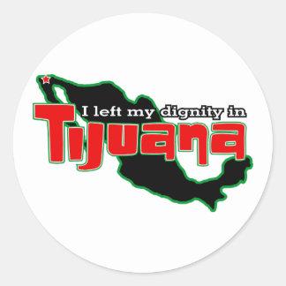 Tijuana Dignity Classic Round Sticker