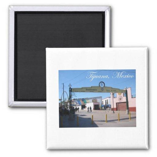 Tijuana Mexico 2 Inch Square Magnet