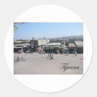 Tijuana México 2 Pegatina Redonda