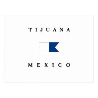 Tijuana Mexico Alpha Dive Flag Postcard