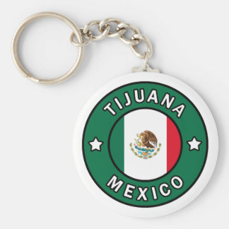 Tijuana Mexico button Keychain