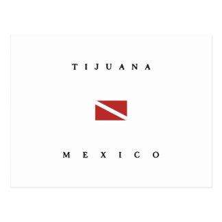Tijuana Mexico Scuba Dive Flag Postcard