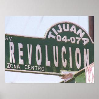 Tijuana Revolution Street Sign Poster