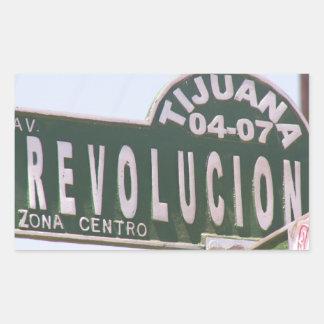 Tijuana Revolution Street Sign Stickers