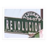 Tijuana Street Sign Postcard
