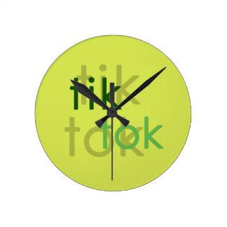tik tok round wall clock