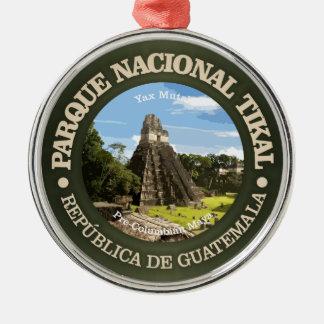 Tikal National Park Metal Ornament