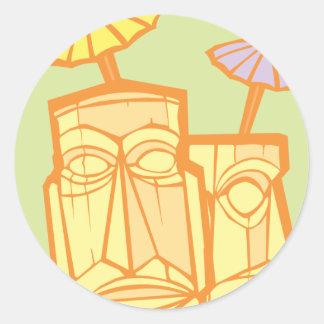 Tiki #3 classic round sticker