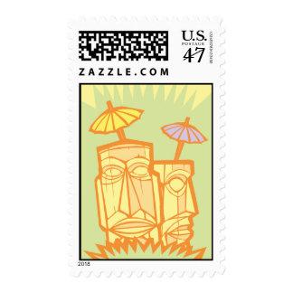 Tiki #3 sello postal