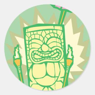 Tiki #8 classic round sticker