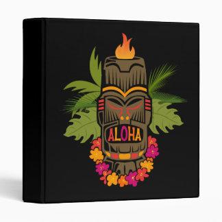 Tiki Aloha 3 Ring Binder