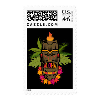 Tiki Aloha Postage Stamp