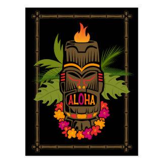 Tiki Aloha Post Card