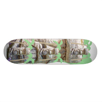 Tiki and Palm Trees Skateboard Deck