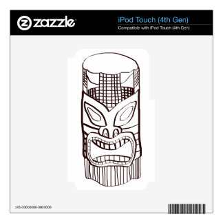 Tiki angry face skin for iPod touch 4G