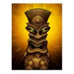 Tiki artwork post card