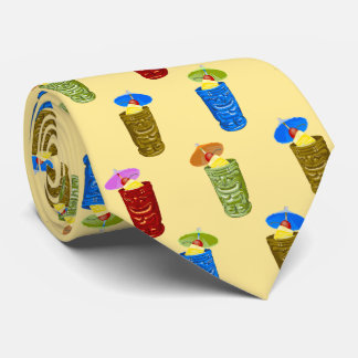 Tiki asalta bilateral tropical de las bebidas corbata