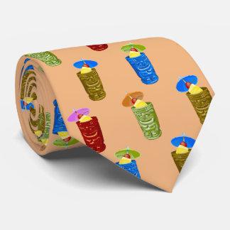Tiki asalta bilateral tropical de las bebidas corbata personalizada