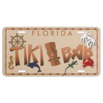 Tiki Bar Add Any State License Plate