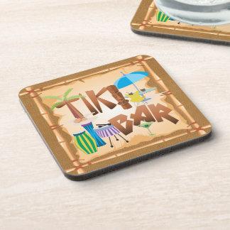 Tiki Bar Design Drink Coaster