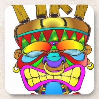 Tiki Bar God Beverage Coasters