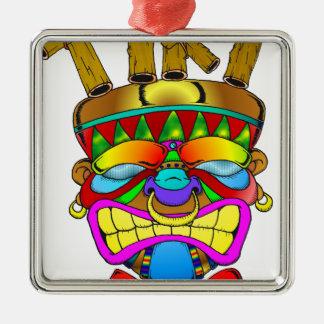 Tiki Bar God Metal Ornament