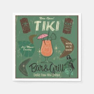 Tiki Bar&Grill Cocktail Napkins