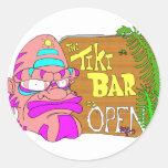 Tiki Bar is OPEN Classic Round Sticker