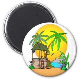 Tiki Bar Island 2 Inch Round Magnet