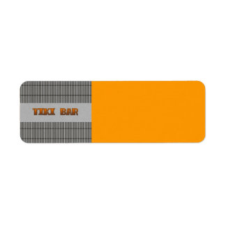 Tiki Bar Label