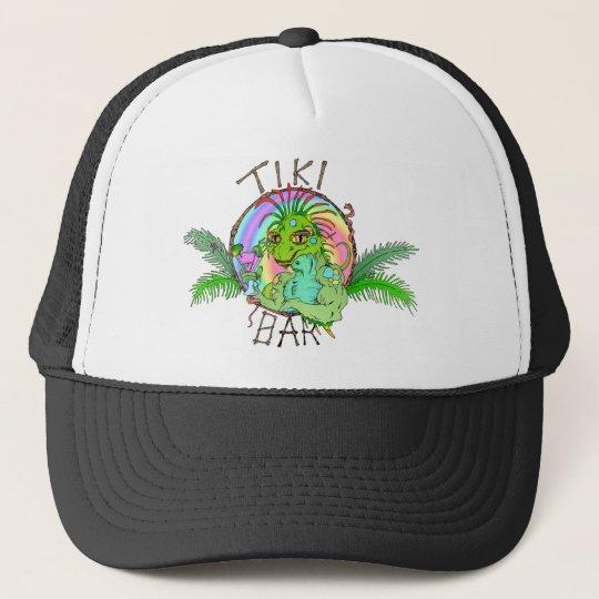 Tiki Bar Lizard Trucker Hat