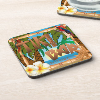 Tiki Bar Party Design Coaster
