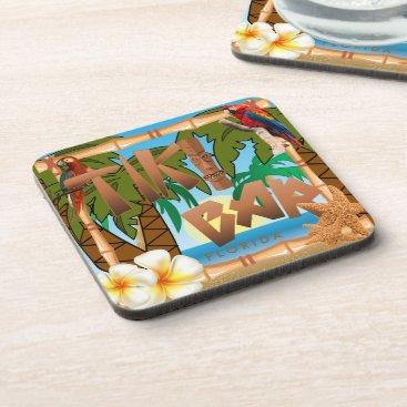 DesignsbyDonnaSiggy Tiki Bar Party Design Coaster