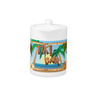 Tiki Bar Party Design Teapot