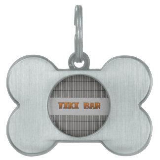 Tiki Bar Pet Name Tag