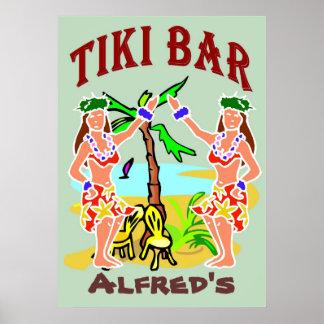 Tiki Bar Sign Print
