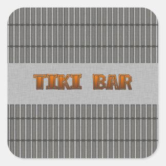 Tiki Bar Square Sticker