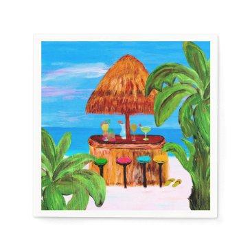 Beach Themed Tiki beach bar napkins