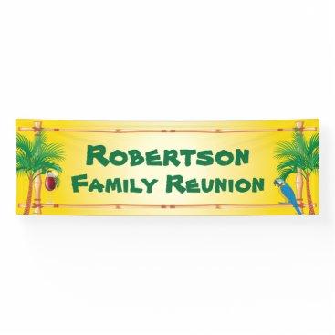 Tiki Beach Family Reunion Banner