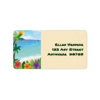 Tiki Beach Label