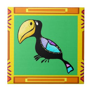 Tiki Bird Ceramic Tile